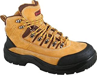 Blackrock Crusader Tan Leather Work Safety Boots With Steel Toe Caps And Midsole (UK