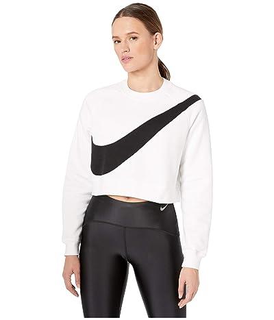 Nike NSW Swoosh Crew Fleece (White/Black) Women