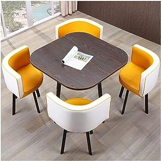 Mesa de comedor Juego de muebles Inicio sala de mesa y silla Combinación 4 del diseño moderno restaurante de cocina de 80 cm Mesa de comedor y Juego de sillas La negociación de negocios Cafetería