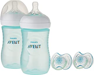 Philips Avent Natural 奶瓶 Teal Gift Set, SCD113/24
