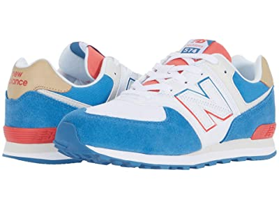 New Balance Kids 574 Split Sail (Big Kid) (Mako Blue/Toro Red) Boy