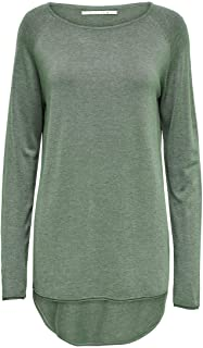 Only Onlmila Lacy L/S Long Pullover Knt Noos Felpa Donna