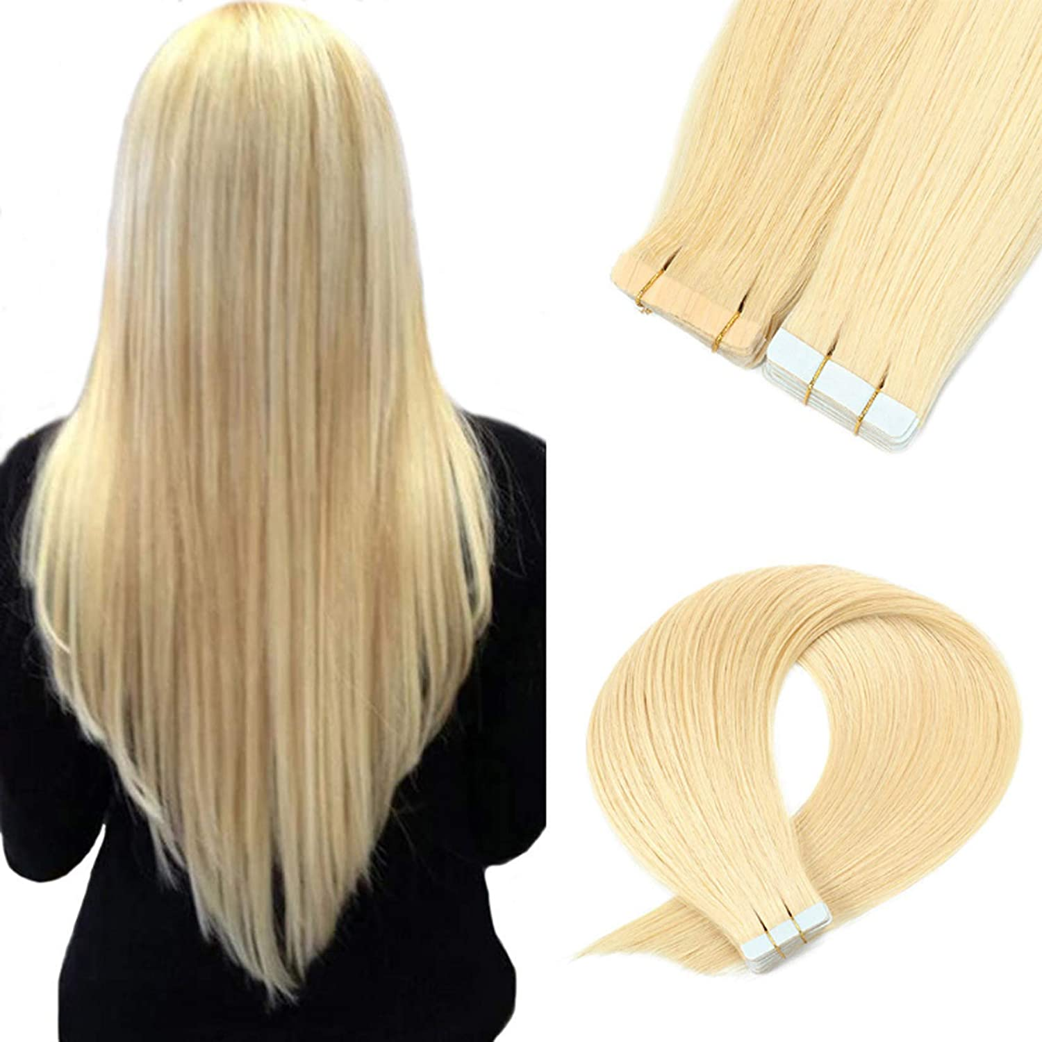 Tape in Hair Extensions Human 16-24 20Pcs Max 76% Soldering OFF Inch Pack Sea 50G