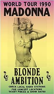 "Per Diem Printing World Tour 1990 - Madonna - Blonde Ambition - 13""x22"" Vintage Style Showprint Poster - Home Nostalgia Decor – Wall Art Print - Concert Bill"