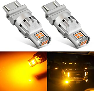 JDM ASTAR 2800 Lumens Extremely Bright 1:1 Design 3020 Chips 3056 3156 3057 3157 4057 4157 LED Bulbs, Amber Yellow