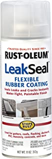 Rust-Oleum 265495 11-Ounce Leak Seal Flexible Rubber Sealant, Clear