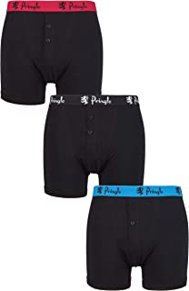 Pringle Mens Cotton Button Boxer Pack of 3