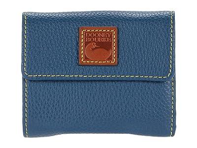 Dooney & Bourke Pebble Small Flap Wallet (Jeans) Handbags