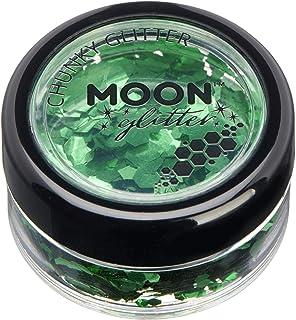 Moon Glitter Klassieke grofkorrelige glitter - 100% cosmetische glitter voor gezicht, lichaam, nagels, haren en lippen - 3...