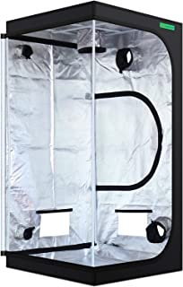 "VIPARSPECTRA 36""x36""x72"" Reflective 600D Mylar Hydroponic Grow Tent for Indoor Plant Growing 3'x3' (90 x 90 x180cm)"
