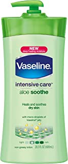 Vaseline Intensive Care Lotion, Aloe Soothe 20.3 oz (Pack of 3)