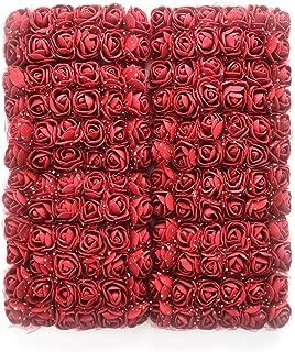 Mini Foam Rose Artificial Flowers Fake flower heads bulk wholesale for crafts For Home Wedding Car Decoration DIY Pompom Wreath Decorative Bridal Flower party Birthday Home Decor 144pcs 2cm (burgundy)