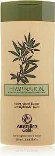 Australian Gold Hemp Nation Natural Bronzer tanning bed lotion 8.5 Oz
