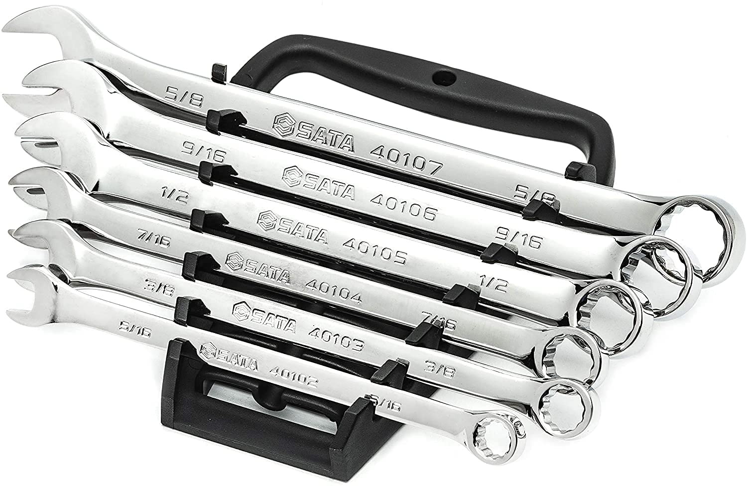SATA 6-Piece Full-Polish Limited time trial price Jacksonville Mall SAE Combination Wrench Set with Offset