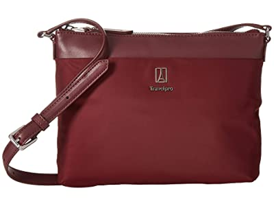 Travelpro Platinum Elite Crossbody (Bordeaux) Cross Body Handbags
