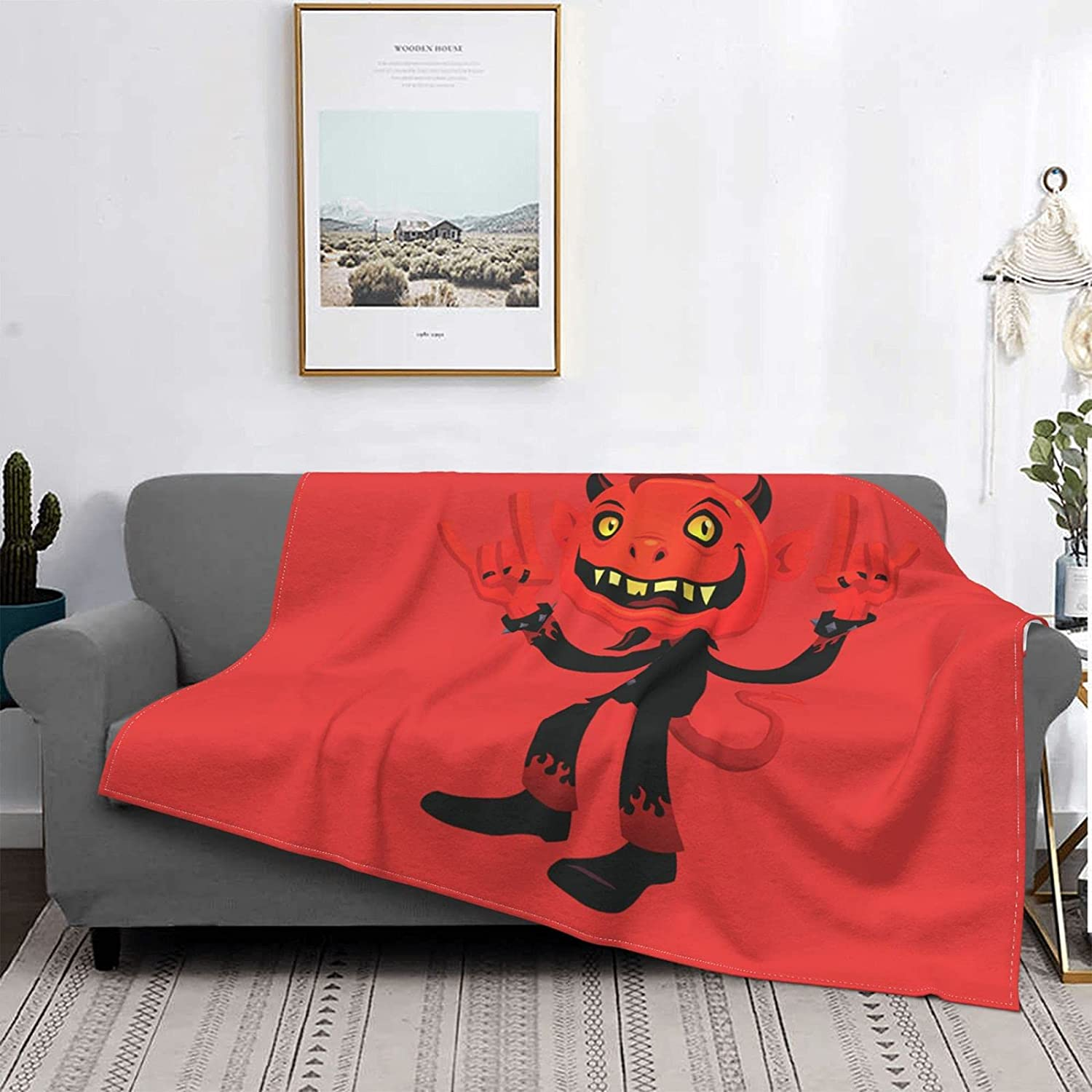 ZHUOBAIL Horror Halloween New product!! Flannel Blanket Throw Air cheap Luxury Condi