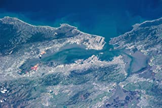 Posterazzi Poster Print Collection Satellite View of San Francisco California USA Panoramic Images, (24 x 18), Multicolored
