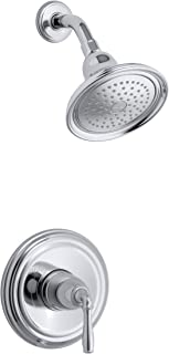 KOHLER K-TS396-4-CP Devonshire(R) Rite-Temp(R) shower valve trim with lever handle and 2.5 gpm showerhead, 11.75 x 8.00 x 6.25, Polished Chrome