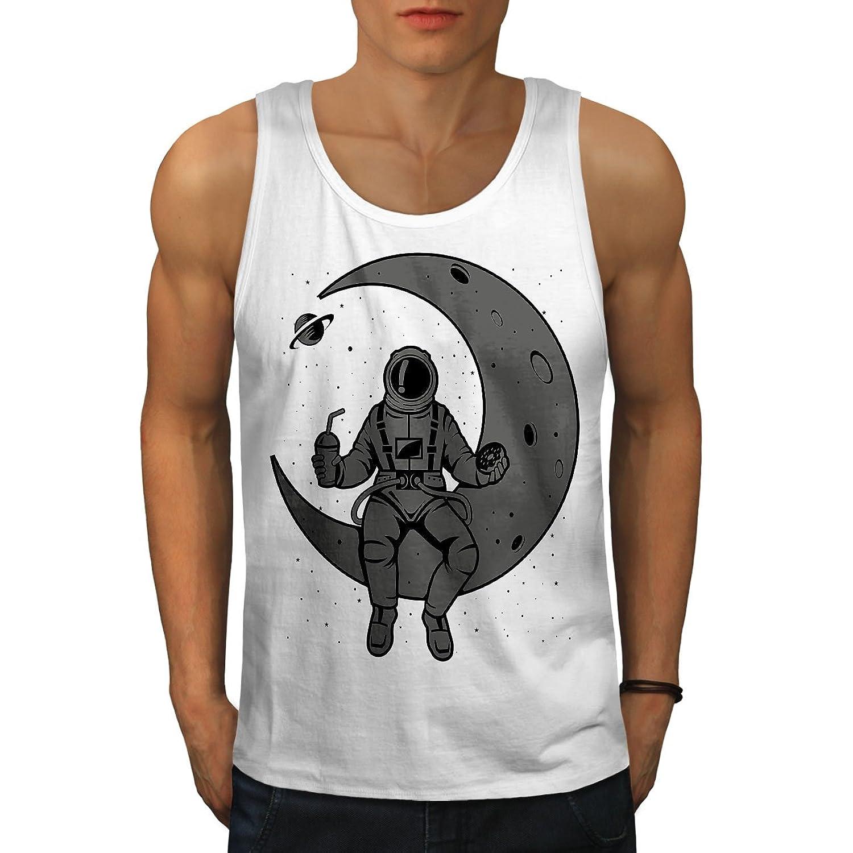 Wellcoda スペース 月 空 ファッション 男性用 S-2XL タンクトップ