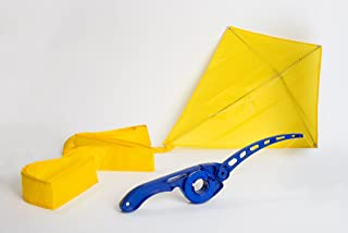 Castakite Blue Kite Flying Handle and Reel That Eliminates The Frustrations of Conventional Winders and Spool - Free Yellow Kite Included! AS SEEN ON TV!!!