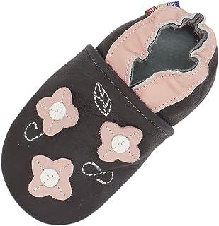 Carozoo Chaussures Bébé Enfant à Semelle Souple Chaussons Cuir Souple 0-6 Mois Jusqu 'à 7-8 Ans