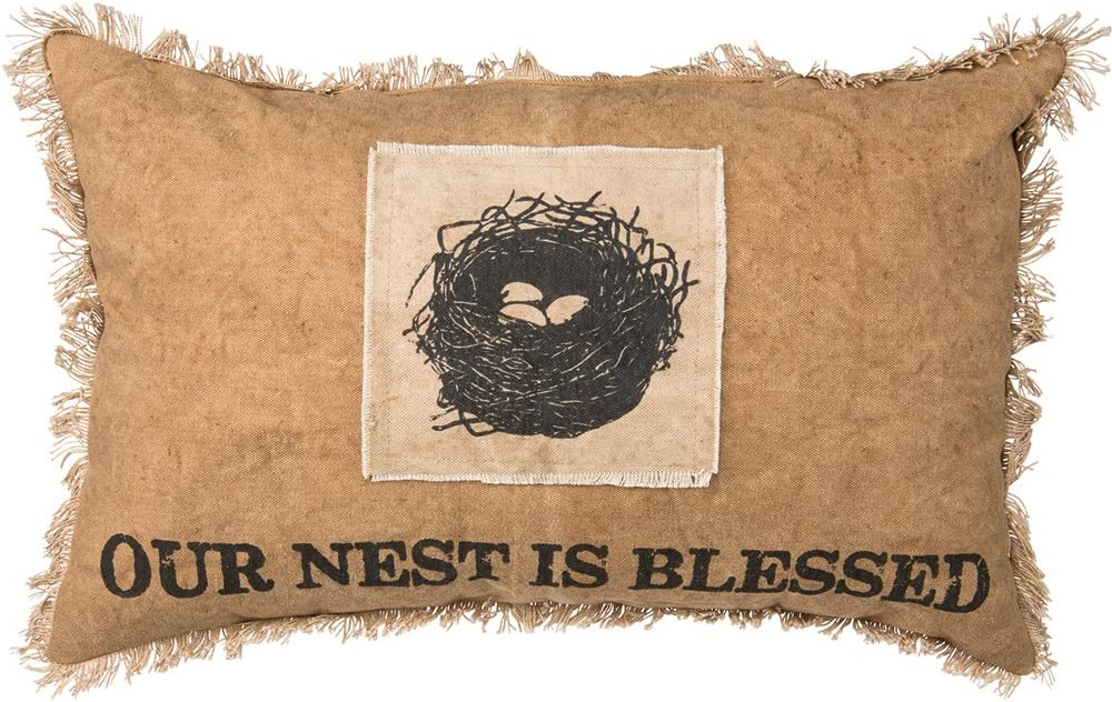 Primitives by Kathy Cotton Nest is 12 x 19 Blessed Throw Pillow Max 52% OFF Excellent