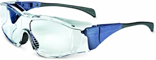 Uvex S3160X Ambient OTG (Over The Glasses) Safety Eyewear, Medium Blue Frame, Clear UV Extreme Anti-Fog Lens