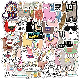 KASTWAVE Alpaca Stickers| 50 PCS | Vinyl Waterproof Stickers for Laptop, Skateboard, Water Bottles, Computer, Phone, Guita...