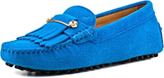 Women's Laced Leather Driving Moccasin V7051