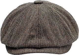 قبعة مسطحة رجالية من MINAKOLIFE مطبوع عليها صورة رجل نيوزبوي صوفي في الهواء الطلق عارضة شتاء كابي ايفي