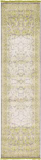 Vintage Castle Collection Rugs Light Green 2' 7 x 10' FT Runner Area Rug - Modern & Traditional Design - Home Décor