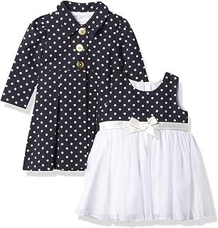 Bonnie Baby Baby Girls' Dot Coat and Dress Set