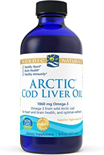 Nordic Naturals Arctic Cod Liver Oil, Unflavored - 8 oz - 1060 mg Total Omega-3s with EPA & DHA - Heart & Brain Health, He...