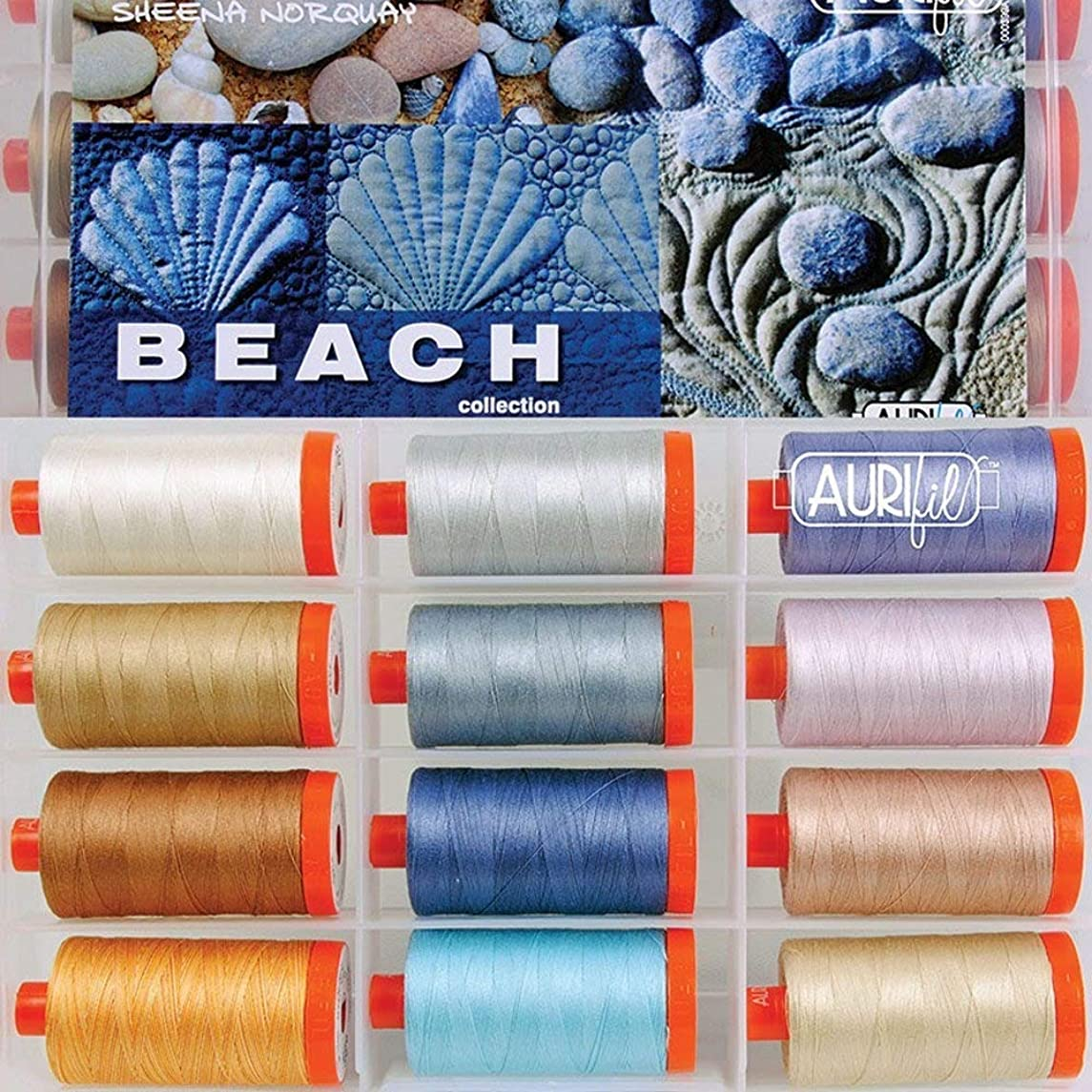 Sheena Norquay Beach Aurifil Thread Kit 12 Large Spools 50 Weight SN50BC12