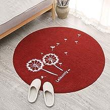 Round Office Chair Mat for Carpet, Hard-Floor Protector Dandelion Pattern Chair Mat for Living Room, Non-Slip Rugs Floor M...
