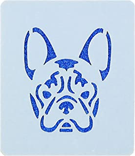 French Bulldog Design Face Painting Stencil 7cm x 6cm 190micron Washable Reusable Mylar