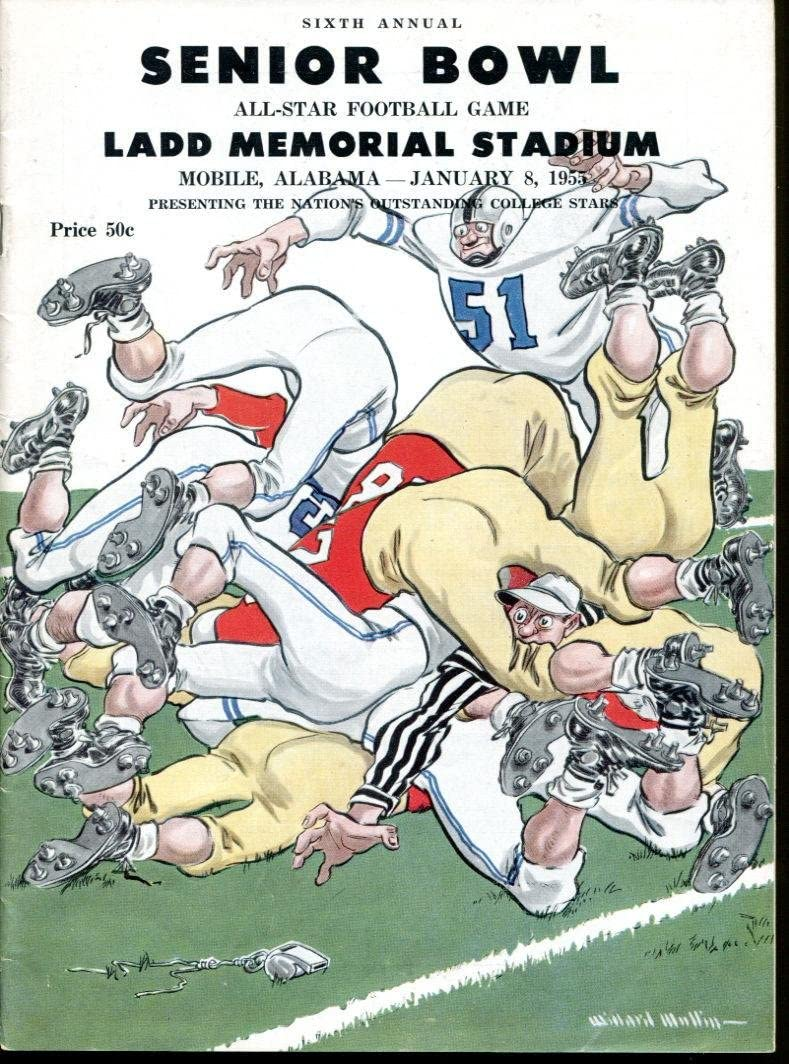 1955 Senior Bowl All Cheap mail order sales Gorgeous Star Football Classic Alan Cond Ameche Ex -