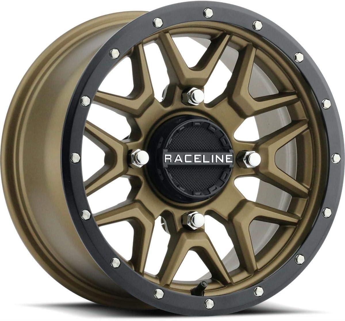 Raceline Krank Department store Wheel Front Rear 14X7 4 Bronze Black 156 Attention brand 5+2