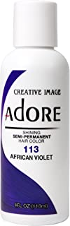 Adore Semi-Permanent Haircolor #113 African Violet 4 Ounce (118ml)