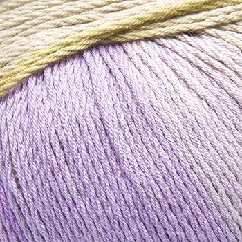 ggh Calypso - 009 - Ocre - Púrpura - Algodón con gradiente de color para tejer y hacer ganchillo: Amazon.es: Hogar