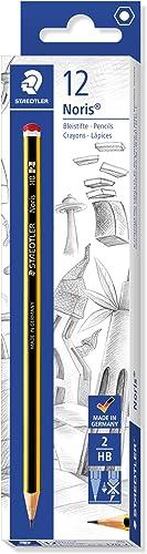 Staedtler Noris 120, Crayons graphites extrêmement résistants, Étui carton avec 12 crayons HB 2 mm, Pour écriture, de...