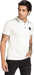 Iconic Men's 2300539 BADGE Polo Shirt, White