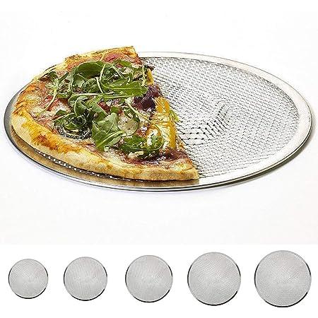 10 Pouces Kirmax Four /à Pizza Rond Professionnel Plaque de Cuisson Filet Antiadh/ésif pour Grille de Barbecue