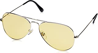 Fastrack UV Protected Aviator Men's Sunglasses - (M165YL31|58|Yellow Color Lens)