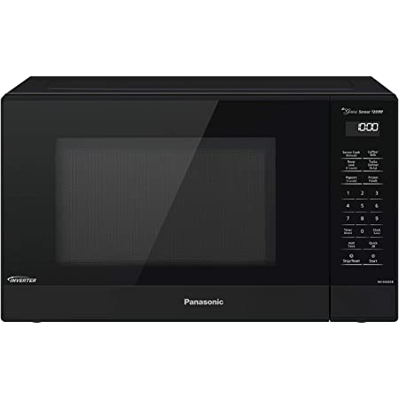 Panasonic Compact Microwave Oven with 1200 Watts of Cooking Power, Sensor Cooking, Popcorn Button, Quick 30sec and Turbo Defrost - NN-SN65KB - 1.2 cu. ft (Black)