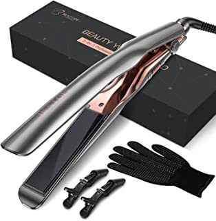 BESTOPE Hair Straightener, Straightens & Curls with Adjustable Temp Ceramic Tourmaline Straightening Flat Iron for Healthy Styling Curling Iron for All Hair Type
