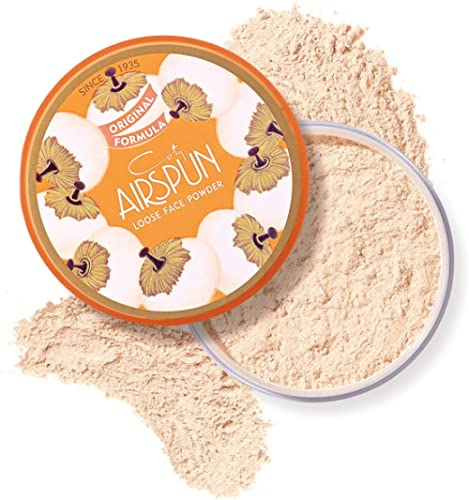Coty Airspun Loose Face Powder 2.3 oz. Translucent Tone Loose Face Powder, for Setting Makeup or as Foundation, Light...