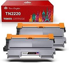 Compatible TN-2220 TN-2210 Cartucho de Tóner en Negro, Toner Kingdom, 2600 Páginas, Toner de Impresora de Reemplazo para Brother HL-2130 HL-2250DN DCP-7055 DCP-7055W HL-2220 HL-2132 HL-2230(2-Pack)