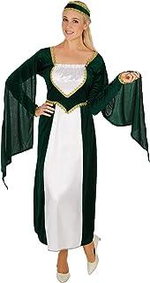 dressforfun Disfraz de Princesa del Castillo para Mujer | Maravilloso Vestido Largo | Incluye Encantador Tocado (XXL | No. 301204)