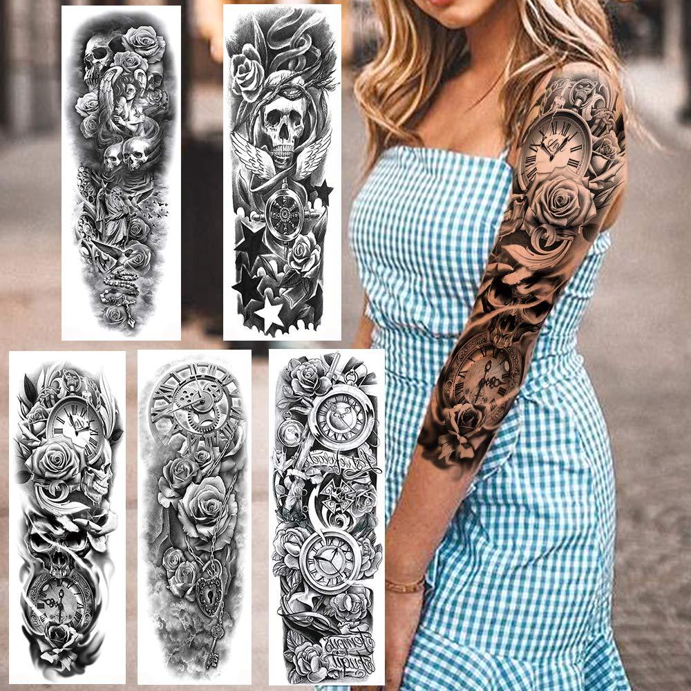 Frau arm schwarz weiß tattoo Ideen Tattoos